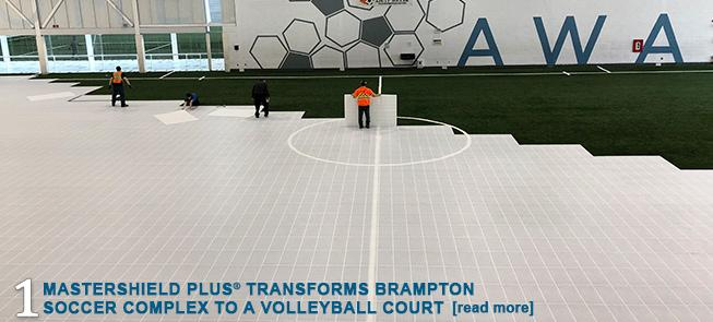 MasterShield Plus Transforms Brampton Soccer Complex to a Volleyball Court