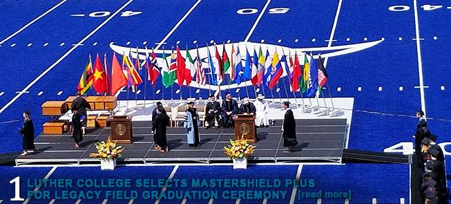 Luther College Selects MasterShield Plus for Legacy Field Graduation Ceremony