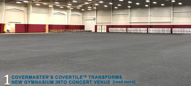 Covermasters CoverTile Transforms New Gymnasium into Concert Venue