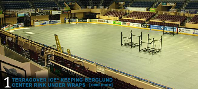 Terracover Ice Keeping Berglund Center Rink Under Wraps