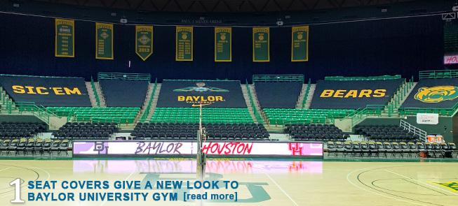 Seat Covers Give a New Look to Baylor University Gym