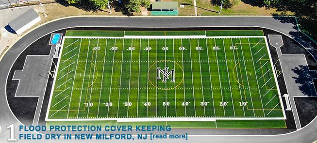 Flood Protection Cover Keeping Field Dry in New Milford, NJ